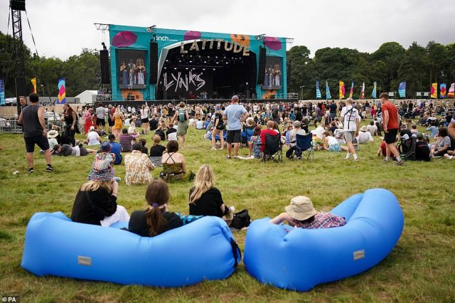 Revellers enjoyed a performance by Lynks at the Obelisk Arena at Latitude Festival in Henham Park, Suffolk, as the long-await event got started
