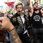 Anti-lockdown protesters are seen attacking police and hurling pot plants as rallies turn violent 💥👩💥