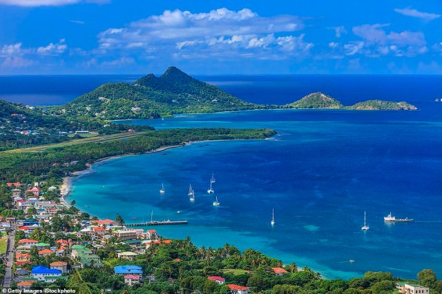 Laid-back: A breathtaking view over Carriacou's main town, Hillsborough
