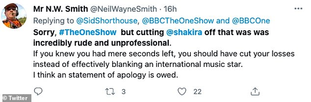 Complaint: One viewer took to Twitter to share that they thought a statement apology was owed after the mistake
