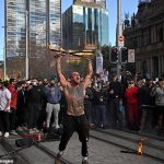 'Fire killa' James Ward-Collins arrested after display at Sydney lockdown protest💥👩💥💥👩💥