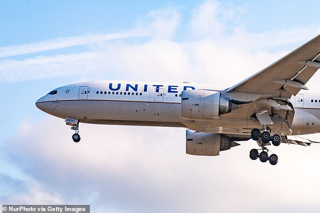 A teenager caused a panic aboard a United flight set to depart San Francisco International Airport on Thursday when he sent a photo of an airsoft gun through AirDrop, prompting officials to remove all passengers. The image above is a 2019 stock photo of a United Airlines jet landing at London's Heathrow International Airport