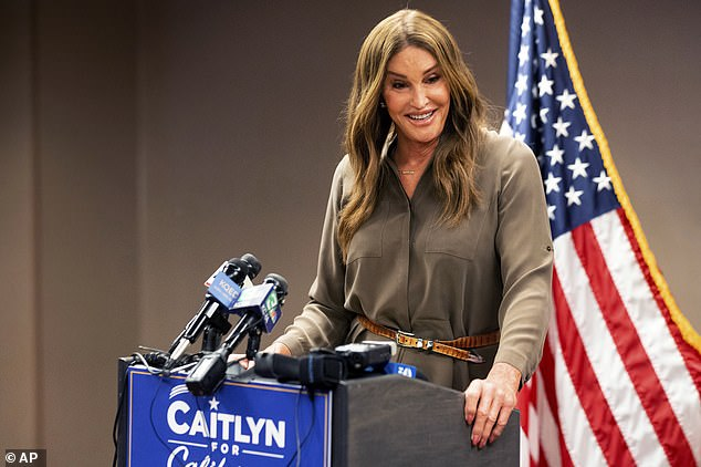 Controversy: Caitlyn Jenner comes under scrutiny for campaigning for California governor since quarantine of hotels in Australia - but she insists this is just proof of her tireless work ethic