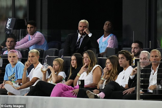 The former England captain attended the game following his side's 5-0 crushing in midweek