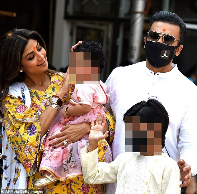 Bollywood actress Shilpa Shetty's (left) husband Raj Kundra (right) was arrested on Monday by Mumbai Police for 'key conspirator' role in a pornography-related case