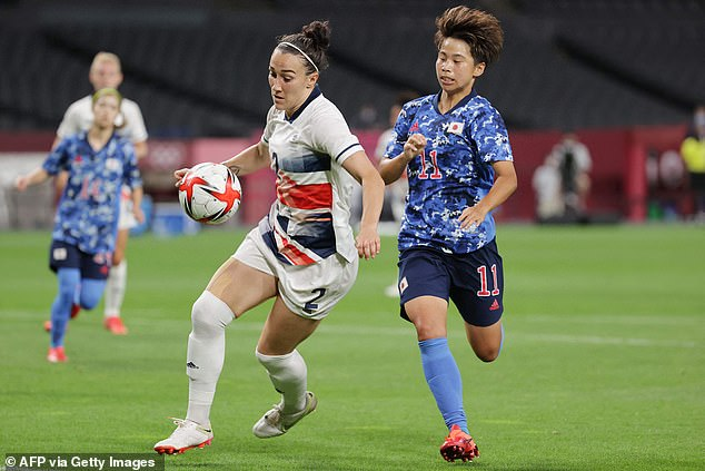 Team GB's Lucy Bronze (left) admits she is yet to hit top form so far at the Tokyo games