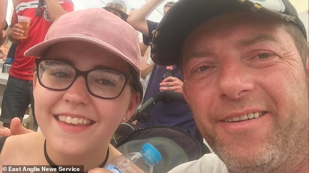 Bernadette pictured with her father Scott Walker who murdered her