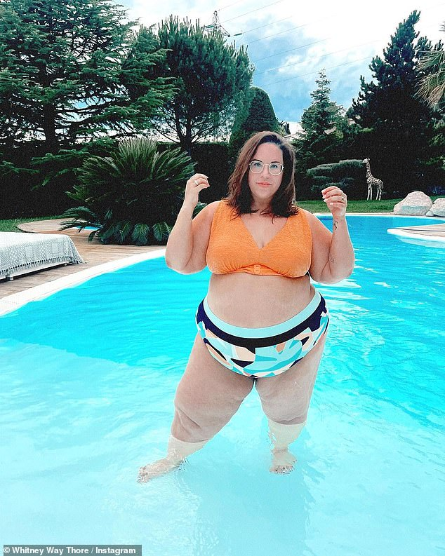 Getting real: Speaking of the constant scrutiny of her appearance, the 37-year-old My Big Fat Fabulous Life star shared two recent examples of the unsolicited feedback under a recent post of her at an 'impromptu body-pos pool party'