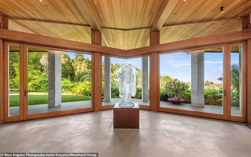 The four bedroom home was customized to her personal tastes with the help of her interior designer Sheldon Harte and her property manager and general contractor Justin Krzyston