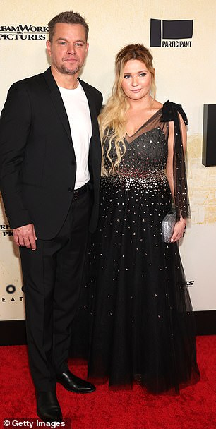 Dad and daughter (onscreen): The actor also posed with his on-screen daughter from the film, Academy Award-nominated actress Abigail Breslin