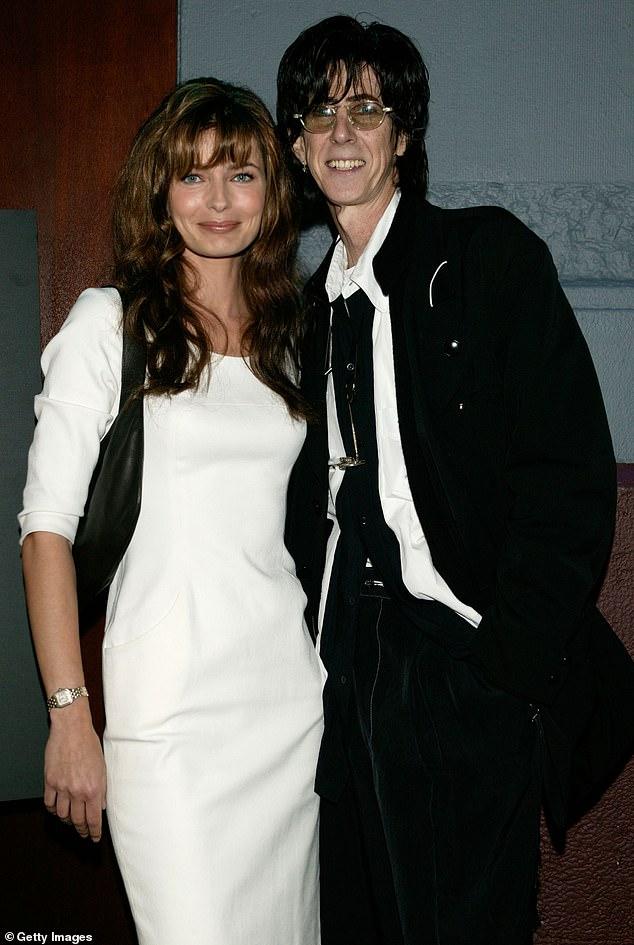 Cars singer: Ric Ocasek and Paulina are shown in June 2003 in New York City