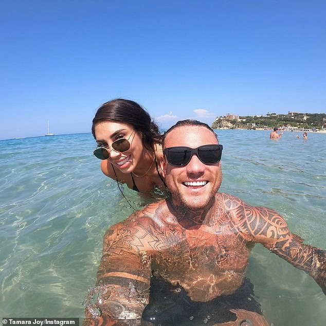 Things are heating up! Tamara is enjoying a love-up holiday with her new boyfriend, former Love Island star Tom Powell