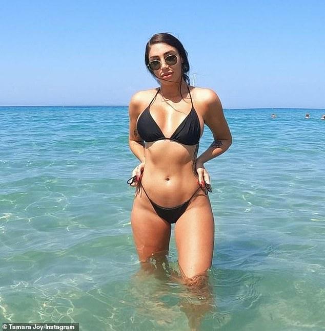 What pandemic? MAFS' Tamara Joy hit the beach off the Greek island of Zakynthos in a revealing bikini on Monday