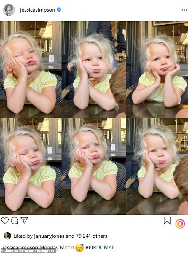 The latest:Jessica Simpson, 40, took to Instagram on Monday with a collage of images of her youngest child, two-year-old daughter Birdie