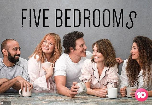 Coming soon: Five Bedrooms stars Kat Stewart, Stephen Peacocke, Hugh Sheridan, Doris Younane, Katie Robertson and Roy Joseph. The second season will premiere on August 11