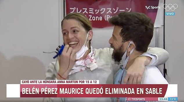 The spontaneous proposal arrived after she was eliminated from the Tokyo Olympic Games