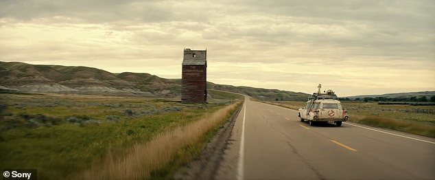 New life:The clip shows two children that seem irritated when their broke single mother moves them to grandpa's run down farmhouse 'in the middle of nowhere.' But soon the kids unearth the past which leads to their town being turned upside down