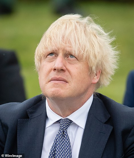 Boris Johnson (pictured at a police memorial today) has said it is still 'too early' to tell whether the fall in Covid cases is permanent