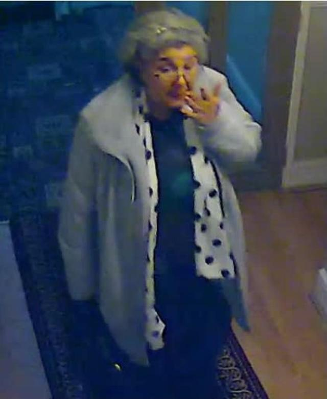 She stayed in Cricklewood before the theft, and then fled the country having dumped her disguise in a Victoria JD Wetherspoon pub toilet