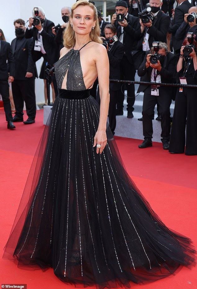 Place to be: Earlier this month, Diane made her presence felt at the Cannes premiere of François Ozon's new film Everything went well