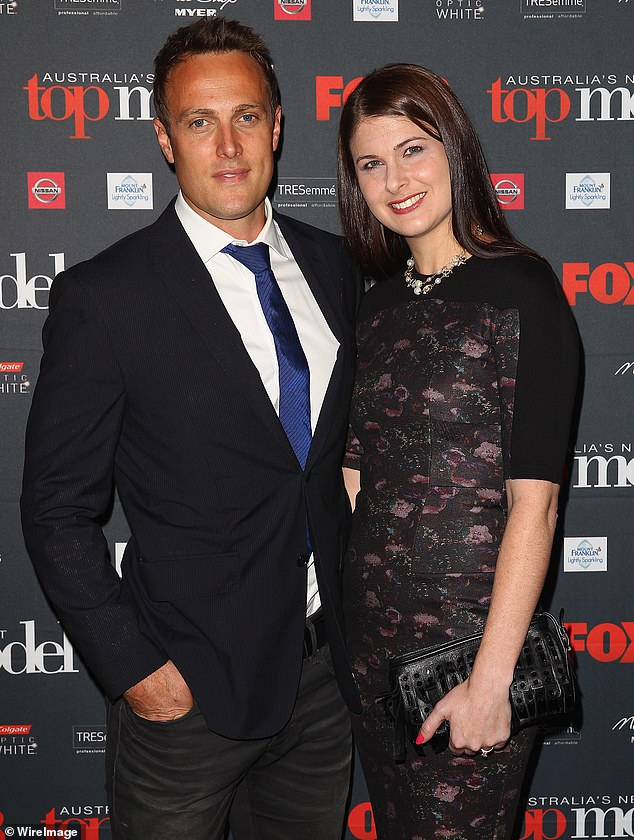 Family man: Matt and Jessica met when they were 17 and now share three children together: daughters Sienna, 15, and Winter, 13, and son Lincoln, 4. Seen here in 2013