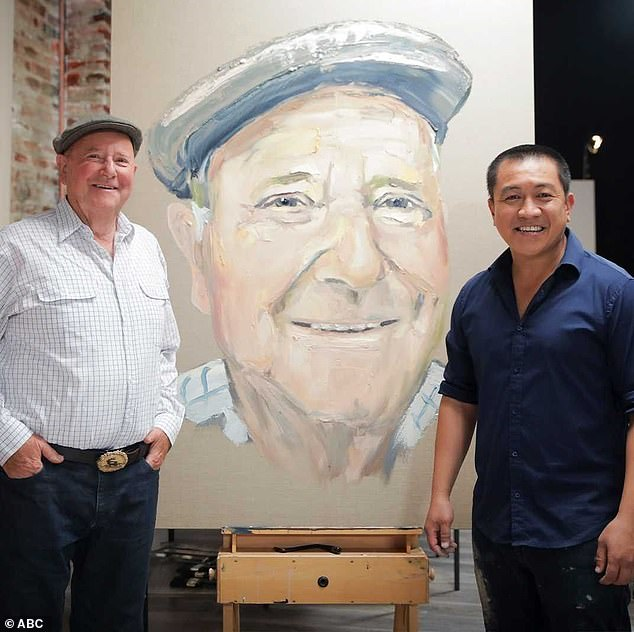 End of an era?  Anh has a publishing contract with Allen and Unwin, where he has committed to writing 50 children's books over the next three years.  Do is pictured with TV veterinarian Dr Harry Cooper