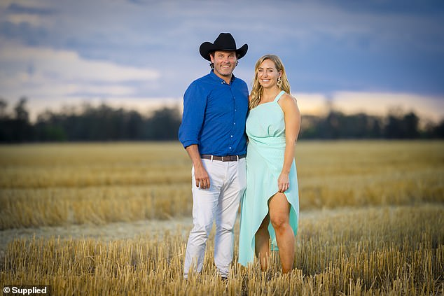 Victory: The Bachelor premiere was achieved by the finale of Seven's Farmer Wants a Wife, which recorded its best marks of the season with 853,000, almost double that of The Bachelor.  Pictured: Farmer Will Dwyer and Jaimee