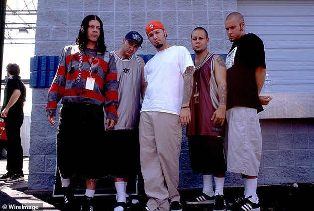 Stand out: the group was nominated for three Grammy Awards, although they won none;  they are photographed in 1997