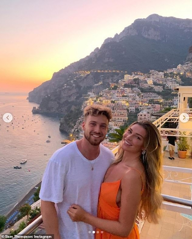 Cute: She's been with Sam since 2019 and the couple are currently living with Sam's mother while their home is being renovated