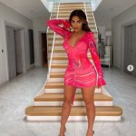 Chloe Ferry showcases her hourglass figure in plunging pink mini dress posing from her £1.1m mansion💥👩💥💥👩💥