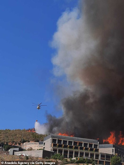 It is one of 17 fires that are blazing acrosssouthern Turkey