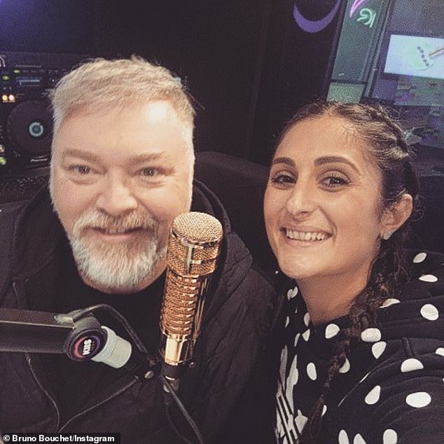 Messaging: Jahshan (right) reminded Sandilands (left) and his co-host Jackie 'O' Henderson that KIIS FM was obliged to 'be mindful of what we're telling listeners' about coronavirus