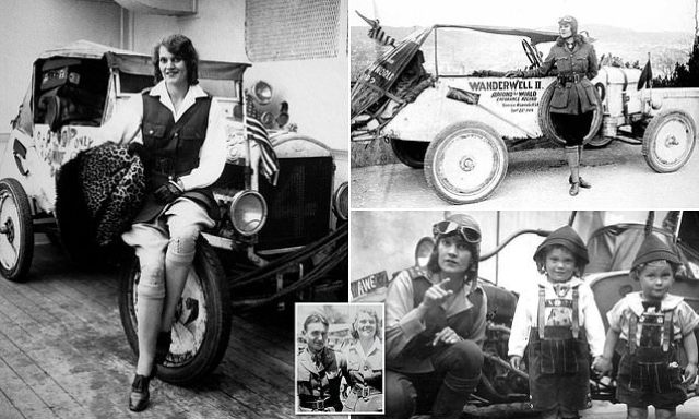 How 16-year-old 'female Indiana Jones' Aloha Wanderwell travelled the world  in a Model T Ford | Daily Mail Online