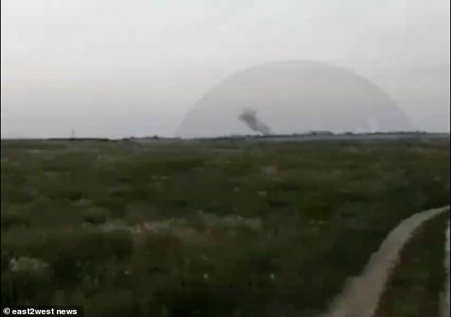 A major chemical explosion at a secret Russian plant has killed one and severely wounded six more, say reports. Five men and two women suffered horrific 'chemical burns' (pictured: Moment of explosion)