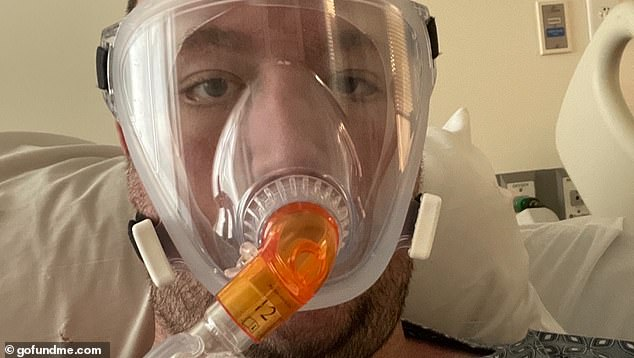 DuPreeze shared this selfie that Freedy took as he fought COVID in the ICU