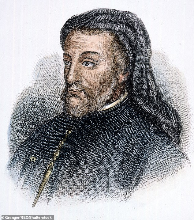 The author of The Canterbury Tales has come under withering attack in a specialist journal from academics who have cast him as racist, an anti-Semite and a rapist (Pictured: Sketch of Geoffrey Chaucer)