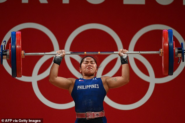 Medallists from the Phillipines also take home huge sums, and Hidilyn Diaz (pictured), the womens weightlifter who won gold, took home 40 million pesos, or about $1.08 million AUD