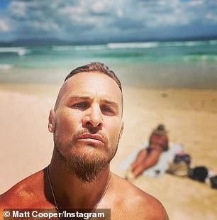 Game on! Pictured: NRL star Matt Cooper, 46