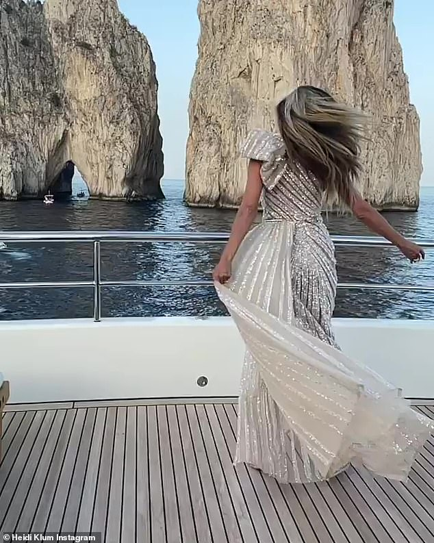 Luxury tour: she gave her 8.3 million followers a glimpse of her view on her yacht