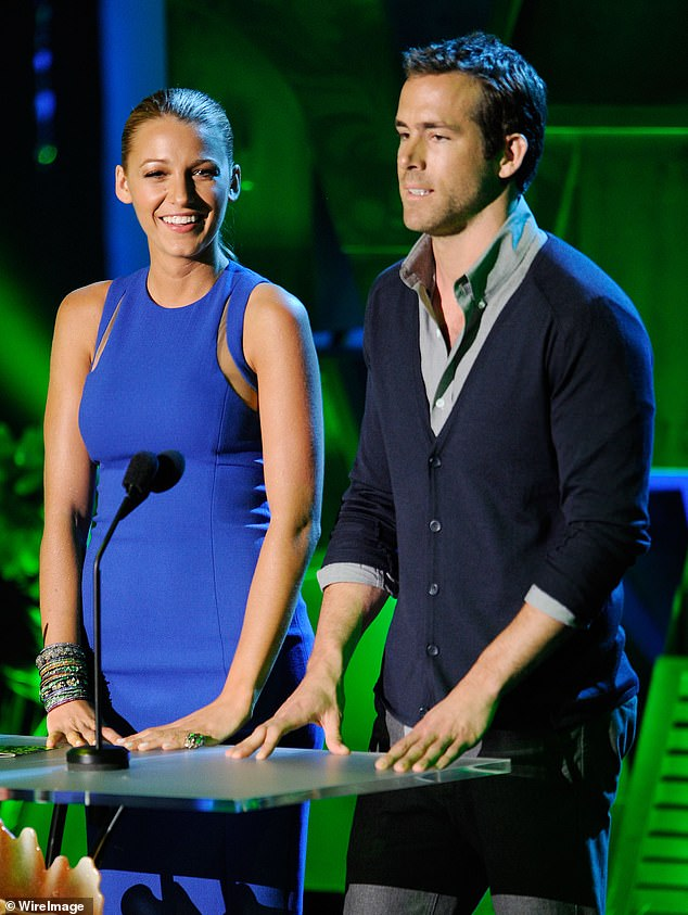 Getting Strong: Lively and Reynolds first met after being cast to star in Green Lantern in 2011;  they are pictured at the MTV Movie Awards that year