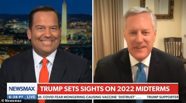 Mark Meadows said Friday that Trump is meeting with Cabinet members to discuss a Trump ticket atTrump National Golf Club in Bedminster, New Jersey