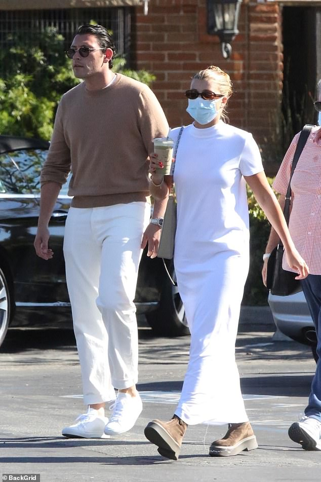 Chic: Sofia Richie looked chic as she stepped out for juice with handsome Elliot Grainge in Malibu on Saturday