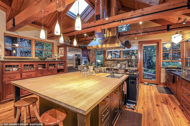 Cooking up a storm: There's plenty of space in the kitchen to cook, host and dine