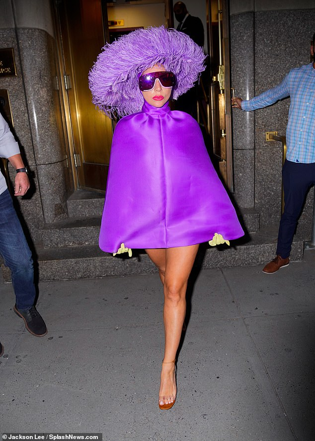 Fashion show! Fans have delighted in Gaga's high fashion attire every day she emerges from the Plaza Hotel in a new look