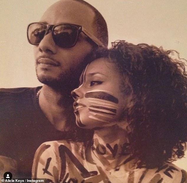 True love:Alicia Keys has paid a sweet tribute to husband Swizz Beatz as the pair celebrate their 11th wedding anniversary