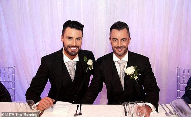 Sad:Rylan and his husband Dan split in June (pictured together)