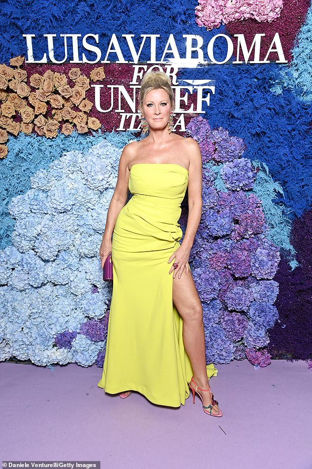 Dazzling:She has lost 30 pounds since the start of the coronavirus pandemic. And Sandra Lee showed off her new figure on Saturday at the LuisaViaRoma for Unicef event at La Certosa di San Giacomo in Capri, Italy