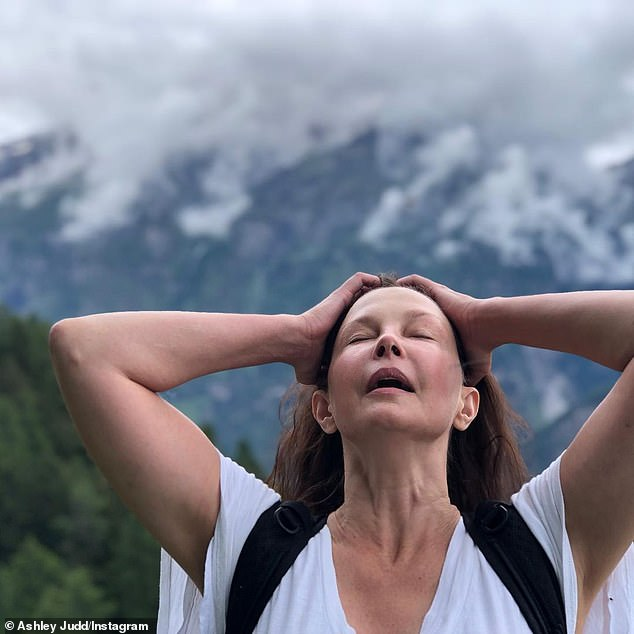 Recovering:Ashley Judd is walking again nearly six months after shattering her leg in four places while traveling in the Democratic Republic of Congo