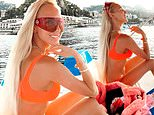 Christine Quinn of Selling Sunset shows off her fantastic figure in a bikini in Italy