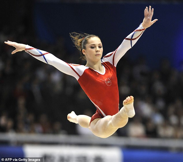 McKayla Maroney of the United States performs on the floor at the women's team event final of the World Gymnastics Championships in Tokyo on October 11, 2011. USA won gold at the event